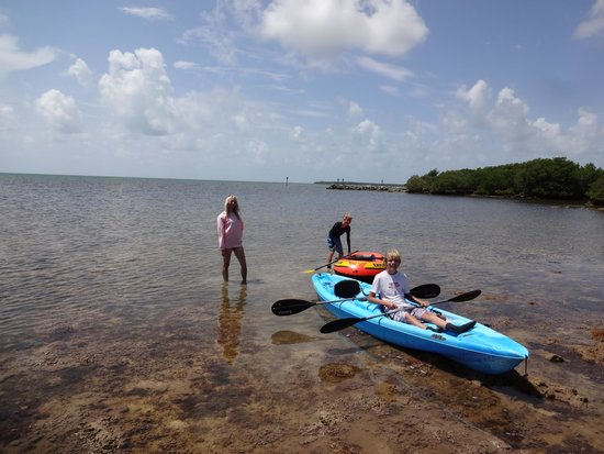 Ocean Pointe Suites at Key Largo: On-site kayak rental is great for exploring the area