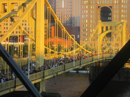 PNC Park: Clemente bridge they close down so people can walk over to and from game.