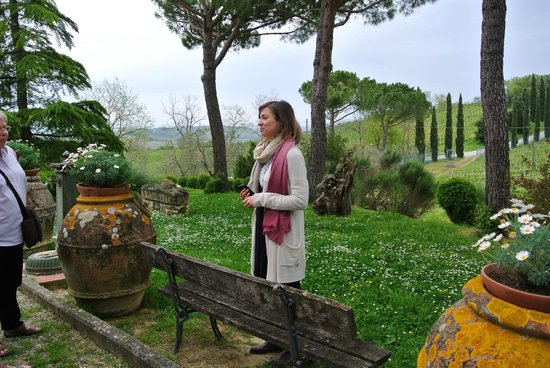 Tuscan Wine Tours by Grape Tours : Owner of one of the vineyards we visited