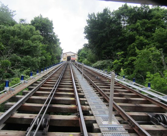 Mount Washington: Tracks incline goes up and down on