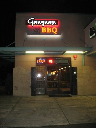 Gangnam BBQ: Front Door - Night