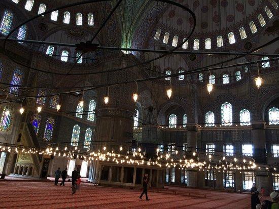 Mosquée Bleue (Sultan Ahmet Camii) : Interior Mezquita Azul