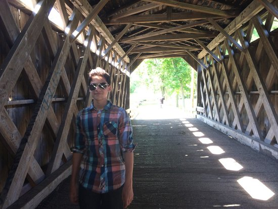 Cedarburg Covered Bridge: This would be a great place for photo ops