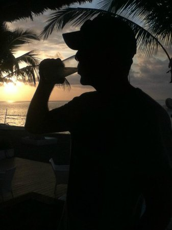Spice Beach Club : sunset drink