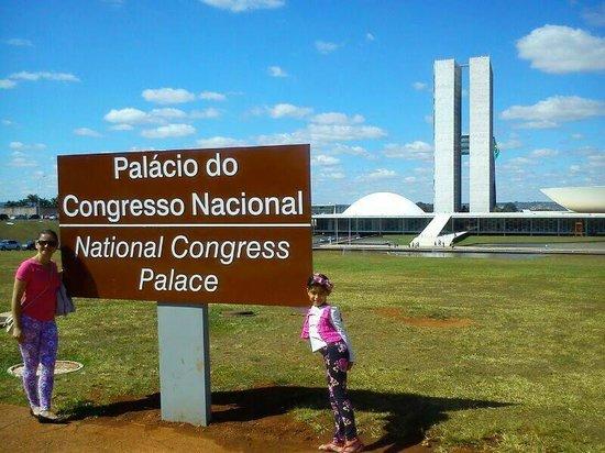 Congresso Nacional: Vista lá no fundo !!
