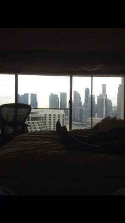 Pan Pacific Singapore: Vue chambre étages supérieures