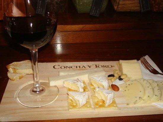 Concha & Toro: tabua de queijos