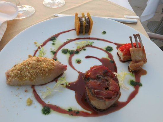 Selene : Rabbit Quintetto: Filet, Chop, Leg with Onion Dolmas, Liver Mousse with Vinsanto