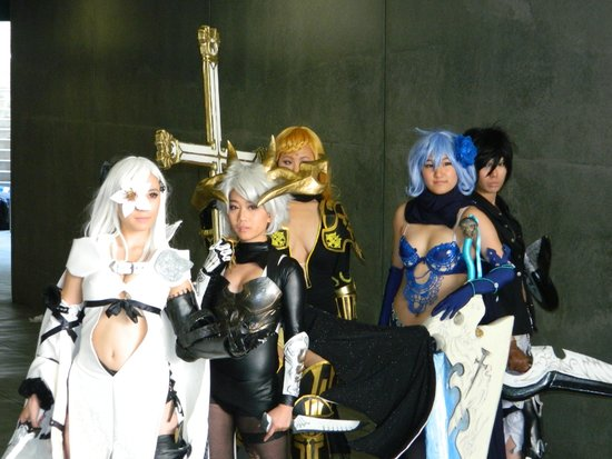 JW Marriott Los Angeles L.A. LIVE: Anime Expo characters
