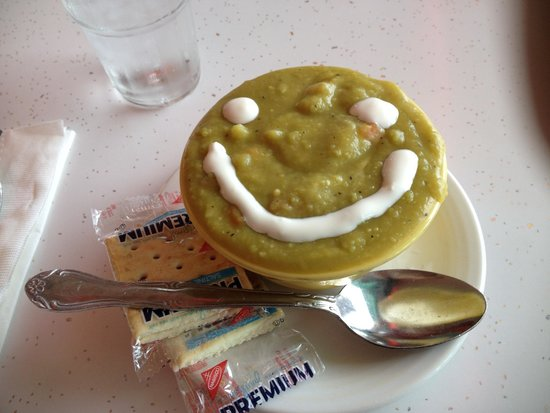 Highway 101 Diner: Split pea soup with a smile!