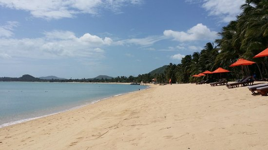 Santiburi Beach Resort & Spa : Peaceful clean beach