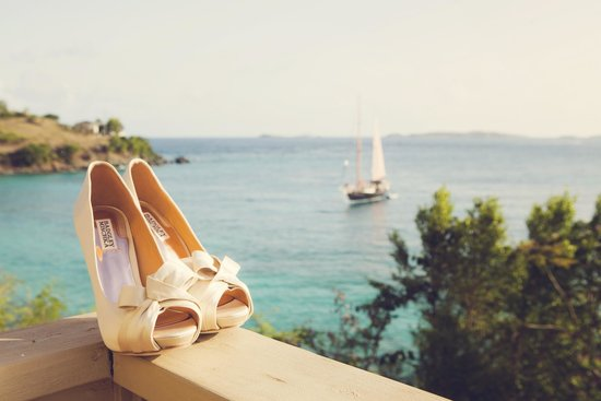 Gallows Point Resort: View From Room (with my wedding shoes)