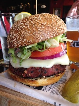 veggie burger.  very veggie good