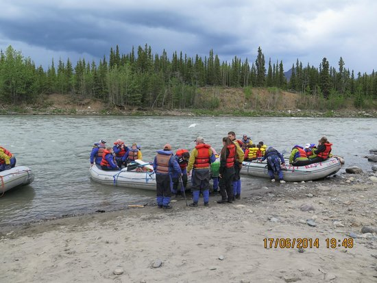 Denali Park Village: rafting na área do hotel