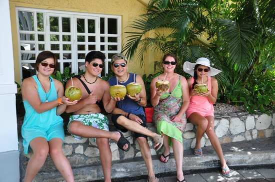 Dunn's River Falls and Park: Fresh Coconuts!!