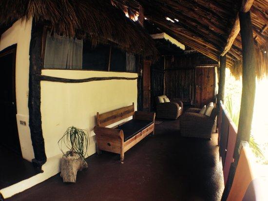outdoor area on second floor picture of yoga shala tulum. Black Bedroom Furniture Sets. Home Design Ideas