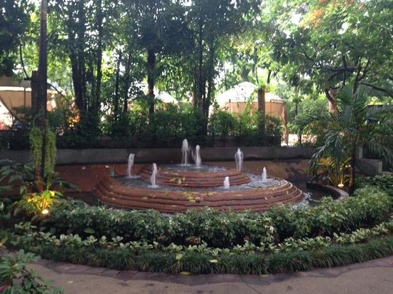 Pantip Suites Sathorn : Garden and Fountain