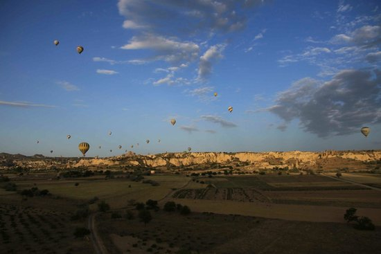 Cappadocia Voyager Balloons: So far the closest view of the chimney we've seen