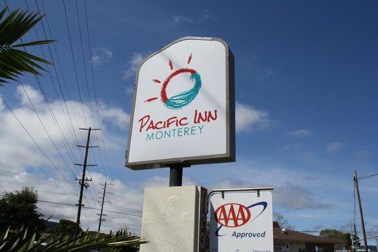 Pacific Inn Monterey: Hotel Sign
