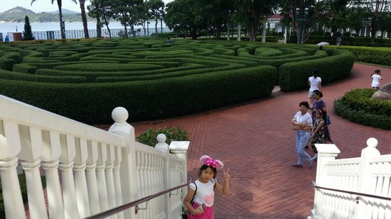 Hong Kong Disneyland Hotel: 飯店窗外景致