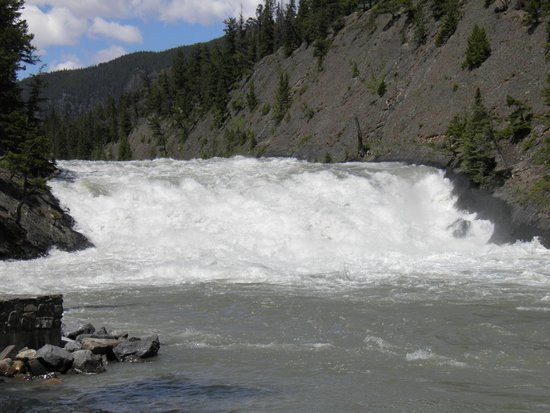 Bow Falls: From the sidewalk