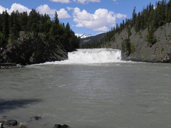 Bow Falls: From the canoe rentals