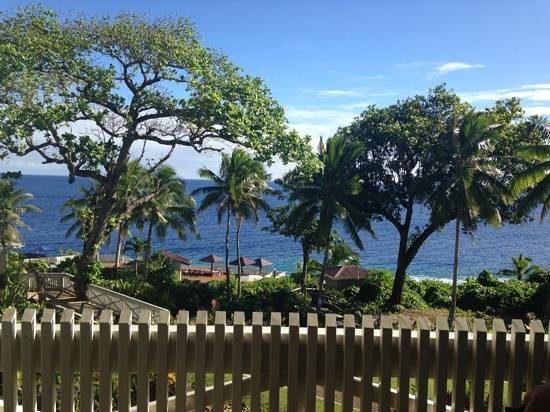 Scenic Matavai Resort Niue: view from balcony of Ocean Front Room, upstairs room 15