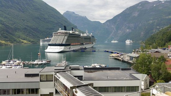 Hotel Geiranger: View from room.