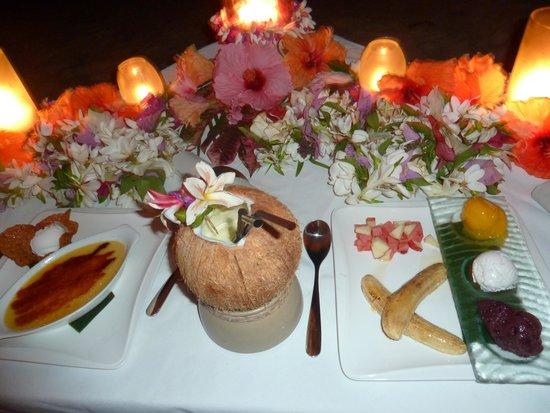 Pacific Resort Aitutaki: yummy desert and cockails