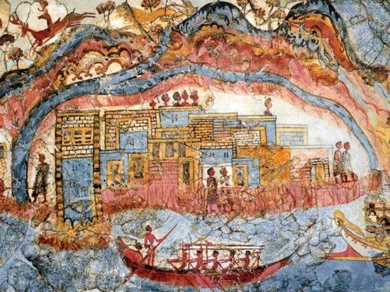 Museum of Prehistoric Thera : Eines der ersten Landschaftsbilder der Menscheit!