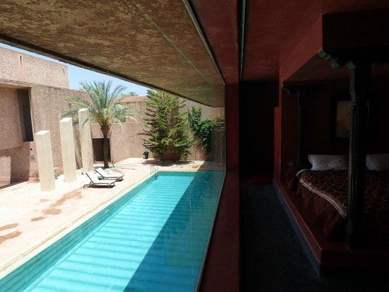 Hôtel Dar Sabra Marrakech : Suite afghane, vue sur une des trois piscines