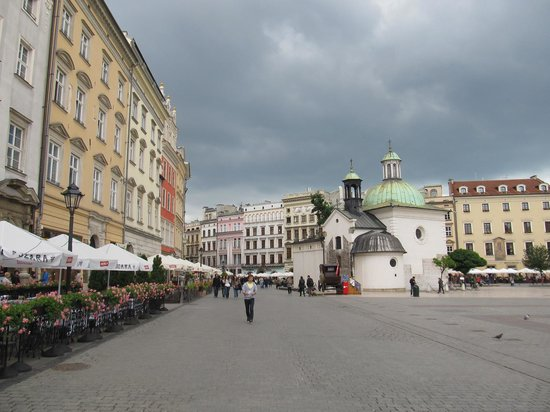 Historic Old Town: Central square and Church of St Adalbert