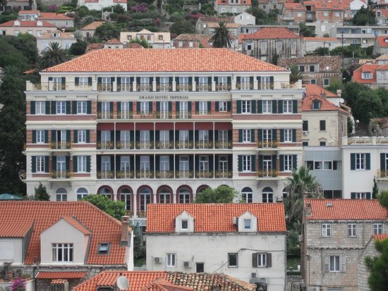 Hilton Imperial Dubrovnik: view from the town