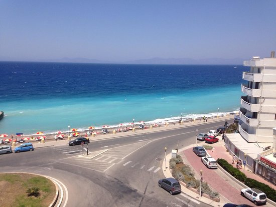 Blue Sky City Beach Hotel: Ausblick Meerblickzimmer