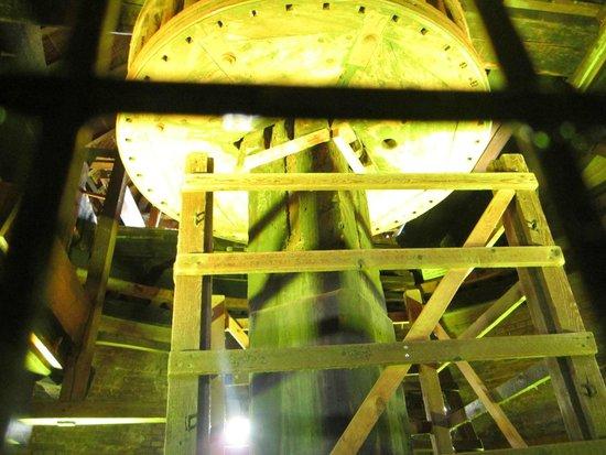 Red de molinos de Kinderdijk-Elshout: Inside the windmill -- water pumping device