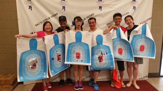 Battlefield Vegas: Us with our all shot up targets!