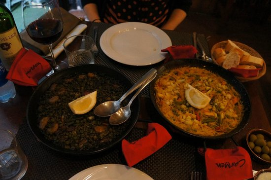 Restaurant Carmen: paella and fideua