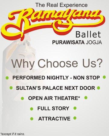 Ramayana Ballet Purawisata: Why choose us?
