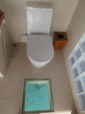 Anantara Dhigu Maldives Resort: TOILET WITH AN OCEAN VIEW