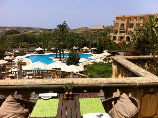 Kempinski Hotel San Lawrenz : Vue depuis la terrasse d'un des restaurants