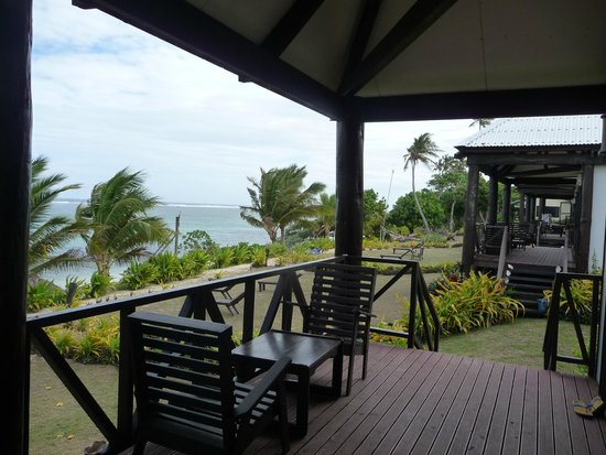 Namuka Bay Lagoon Resort: View to the sea on your deck