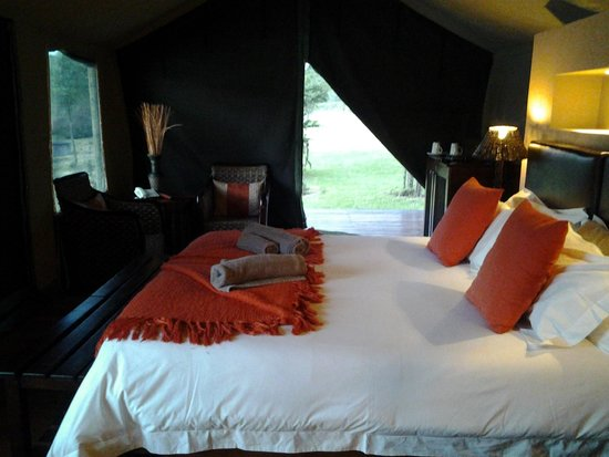 Buffelsdrift Game Lodge : Comfy beds with electric blanket.