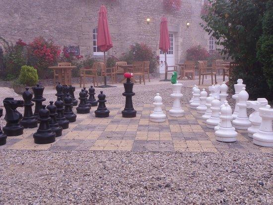 Ferme de la Ranconniere: Larry & Bob playing chess