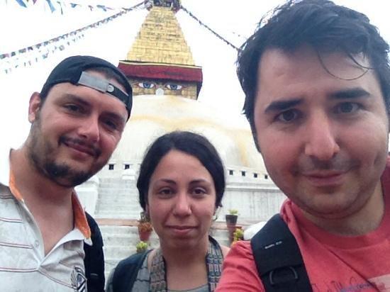 Stûpa de Bodnath : stupa ile özçekim