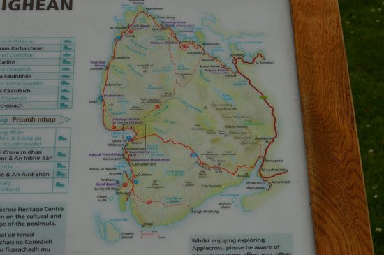 bealach na ba road a local map