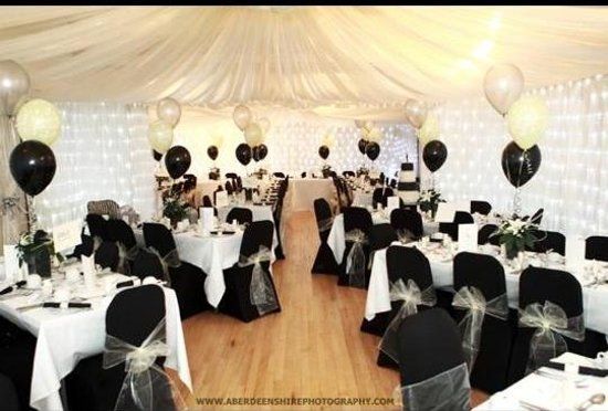 Wedding Theme Here Was Black And Silver