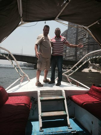 Egypt Tours Portal Day Trips: Ahmed and me on the River Nile boat journey to the restaurant