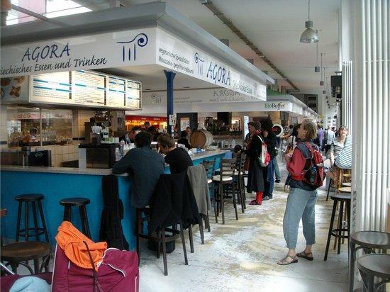 Marheineke Markthalle: Eten en drinken naar ieders keus