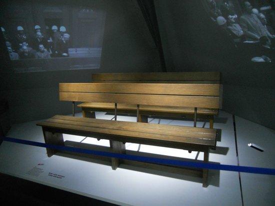 Nuremberg Palace of Justice (Justizpalast): Justizpalast: original benches