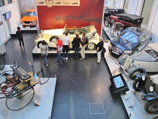Transport Museum Dresden : Overview of ground floor.